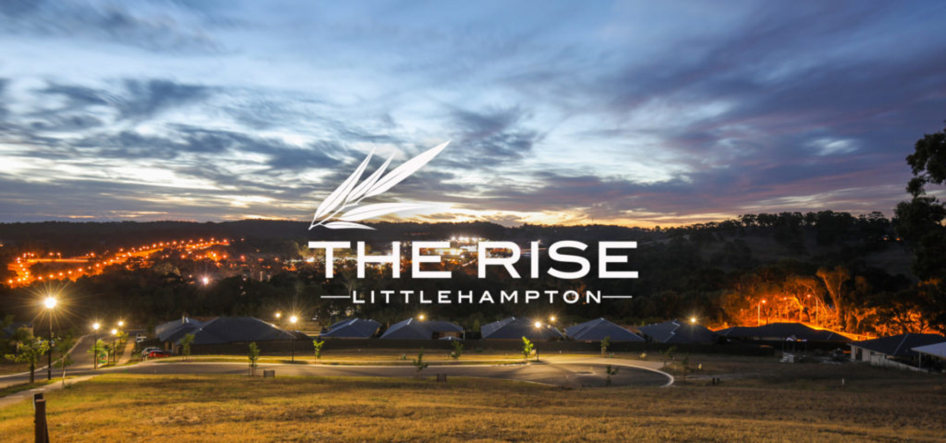 the rise littlehampton night view slider with logo 1