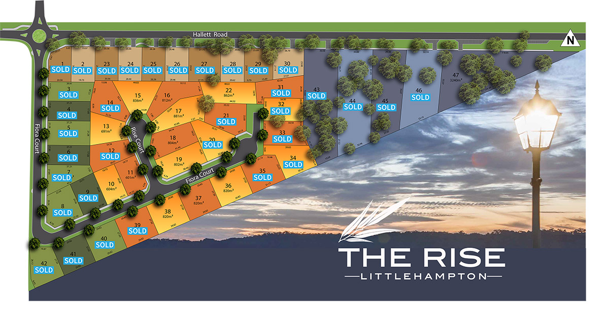 The Rise Littlehampton Premium Adelaide hills land MasterPlan